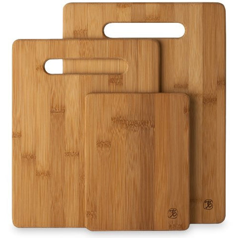 Totally Bamboo 3 Piece Bamboo Cutting Board Set