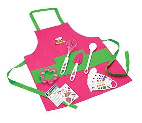 Curious Chef TCC50186 11-Piece Kids' Chef Kit, Pink/Green