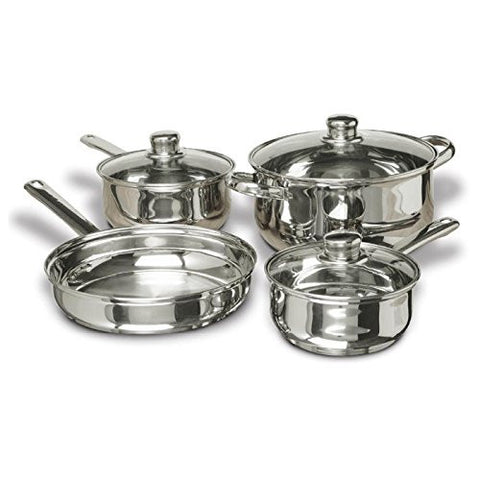 Concord Cookware SAS1700S 7-Piece Stainless Steel Cookware Set