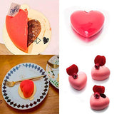 Heart Silicone Molds, 3D Mousse Cake Mold Non-stick Brownie Dessert Mold DIY Baking Tools, 8 Cavities