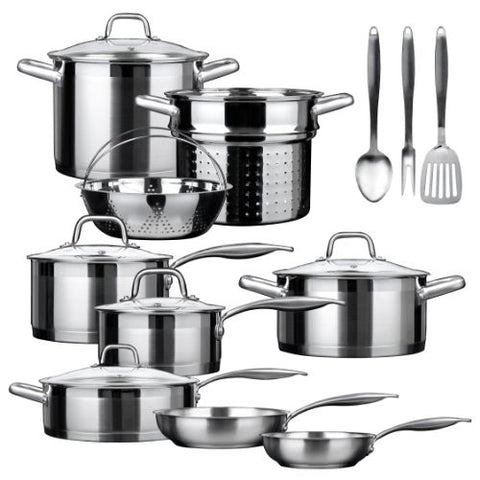 Duxtop SSIB-17 Professional 17 piece Stainless Steel Induction Cookware Set