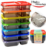 Compartment Portion Bento Box Food Container with Ice pack