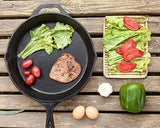 Pre Seasoned Cast Iron Skillet with Silicone Hot Handle Holder - 12.5 inch - by Utopia Kitchen