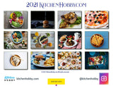 2021 Kitchen Hobby Calendar Back