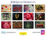 Back Page 2021 Kitchen Hobby Healthy Calendar