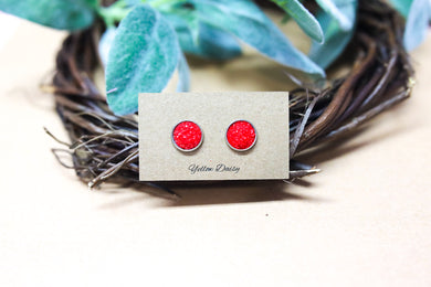 red 12mm earring