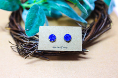 Blue 10mm earring