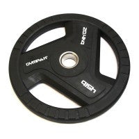 Commercial Black TPU Olympic Grip Plate - 45 LB