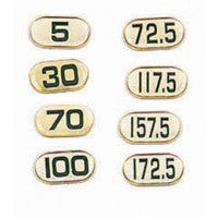 Deluxe-Poly Number Sticker