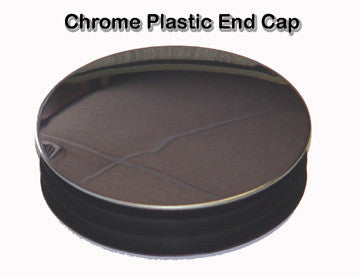 Round Chrome Plastic End Cap Plug 2 in. OD
