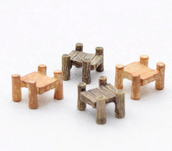 small wooden style bridges