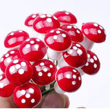 Mini Red Mushroom Pins (10)