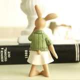 Playful Pensive Bunny Figurines