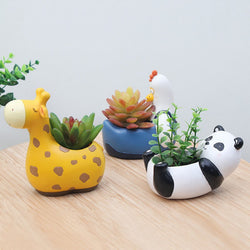 zoo animal mini planters