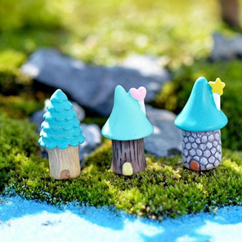 blue top fairy houses