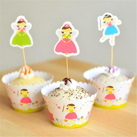 fairy godmother cupcake wrappers and toppers