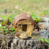 fairy house on tree stump