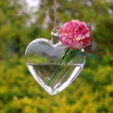 carnation hanging heart vase