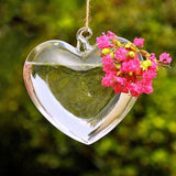 heart water vase with flowers