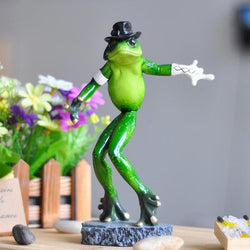 Michael Jackson Moonwalk Frog Figurine