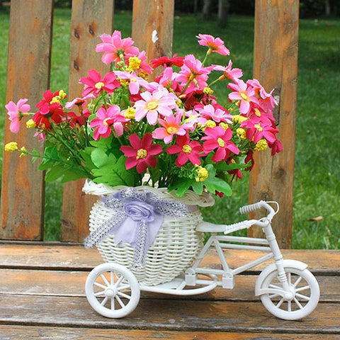 vintage tricycle flower basket