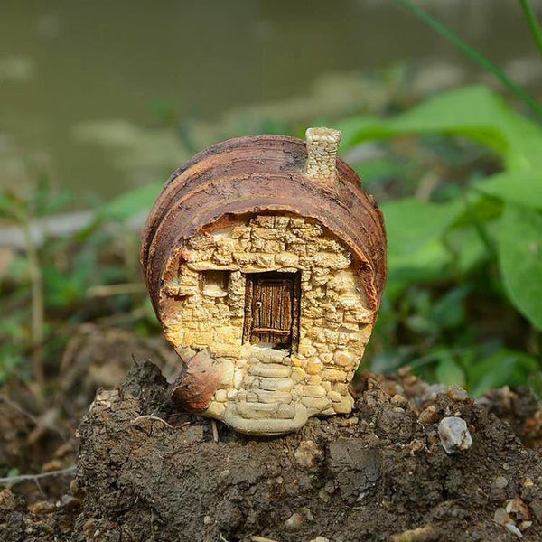 wine barrel fairy house