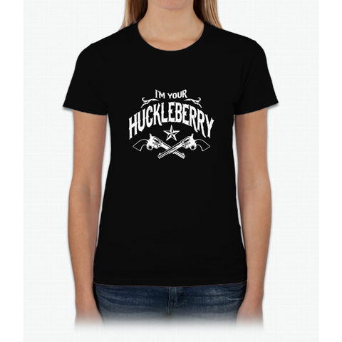 I'm Your Huckleberry (Vintage Distressed) Womens T-Shirt