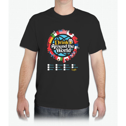 Drink Around the World - EPCOT Checklist v1 - Mens T-Shirt