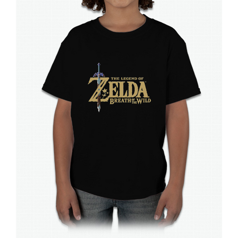 The Legend of Zelda: Breath of the Wild Logo Young T-Shirt