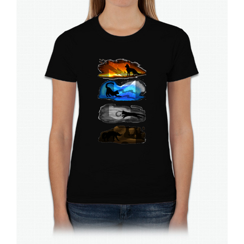 Warrior Cats: Four Elements, Four Clans Womens T-Shirt