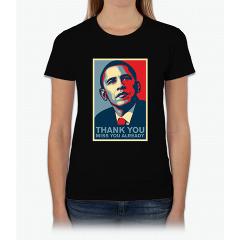 Obama - Thank You, Miss You Already Womens T-Shirt