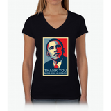 Obama - Thank You, Miss You Already Womens V-Neck T-Shirt