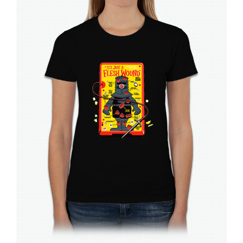 "The ""It's Just A Flesh Wound"" Game Womens T-Shirt"