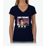 Louis Theroux Print Womens V-Neck T-Shirt