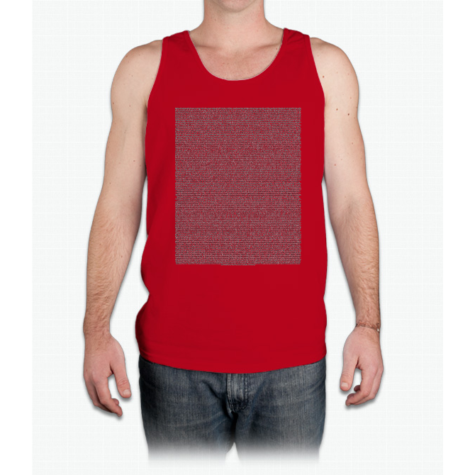 Bee Movie Script (Updated: Check Description For Details) - Mens Tank Top