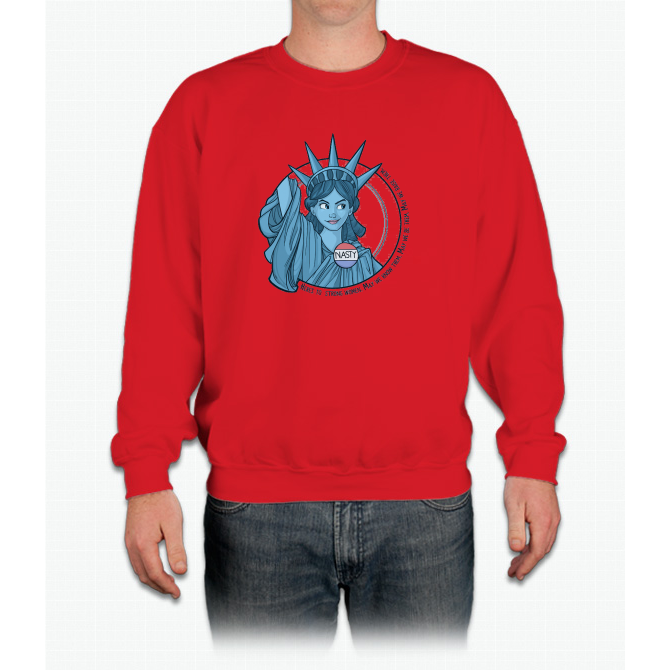 Nasty Lady Liberty Crewneck Sweatshirt