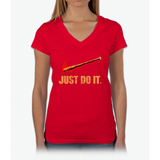 Lucille - Just Do It Womens V-Neck T-Shirt