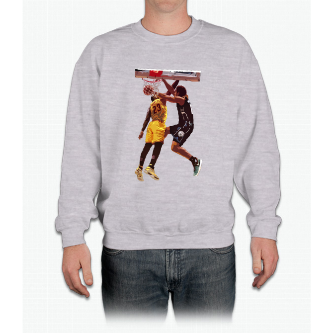 Malcolm Brogdon Dunk on LeBron James Crewneck Sweatshirt