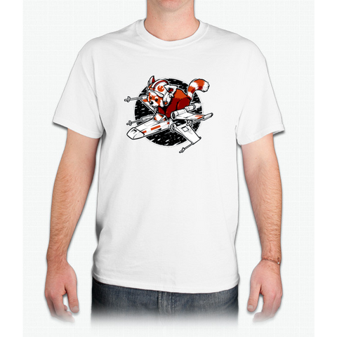 Red Panda, Standing By - Mens T-Shirt