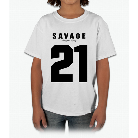 21 Savage Jersey (BLACK) Young T-Shirt