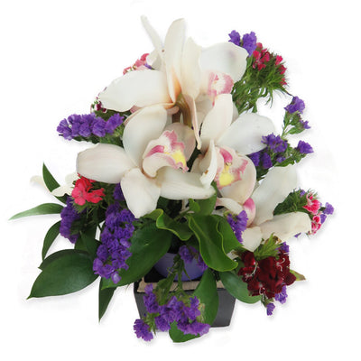 Orchid Posy Bowl