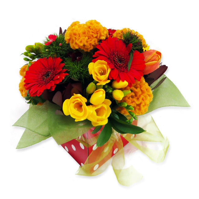 Red & Gold Posy Box