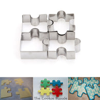 4 Pack Puzzle Cookie Cutters