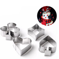 4 Pack Playing Card Cookie Cutters