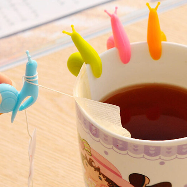 5 Pack Cute Snail Teabag Cup Holders