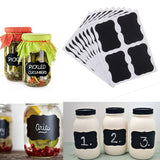 36 x Black Board Kitchen Labels With BONUS Chalk Pen