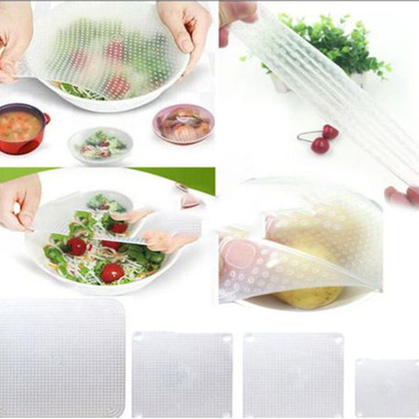 Reusable Silicone Food Wraps (Clear)