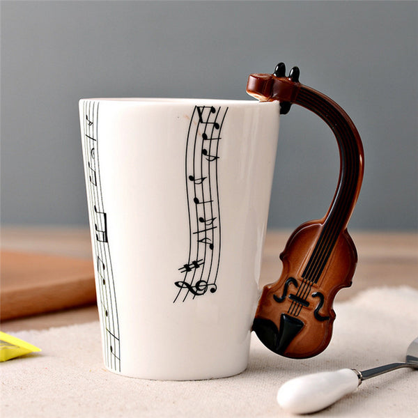 Violin Instrument Mug - Ceramic