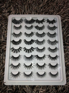 The Falsie Collection- 16 Synthetic lashes (Ships 1/17)