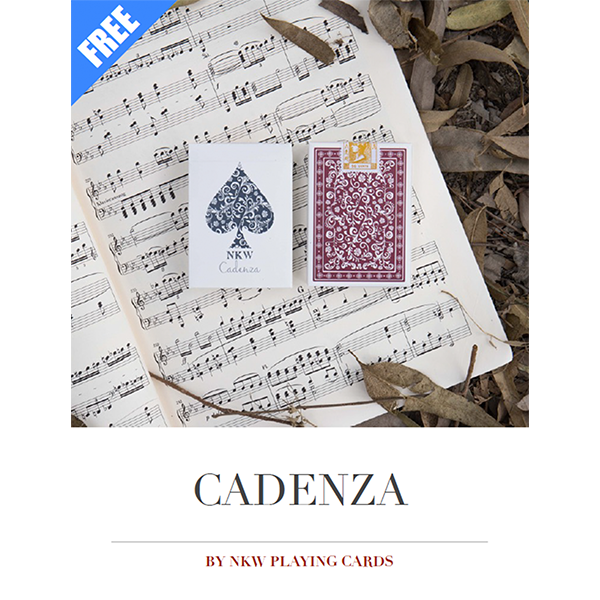 Download a free sample of the e-book by NKW Playing Cards, explaining all features of Cadenza and routines you can perform with the special gaff cards.